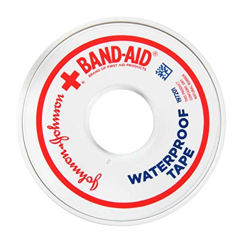 Band-Aid Waterproof Tape .5 Inch, 10 yds, Pack of 5