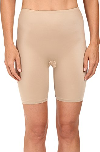 SPANX Women's Two-Timing Midthigh Shorts Mineral Taupe/Soft Nude Body Shaper MD
