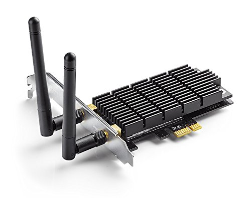 TP-Link AC1300 PCIe Wireless Wifi PCIe Card | 2.4G/5G Dual Band Wireless PCI Express Adapter | Low Profile Bracket, Long Range, Heat Sink Technology