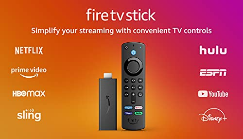 Fire TV Stick (3rd Gen) with Alexa Voice Remote (includes TV controls)   HD streaming device