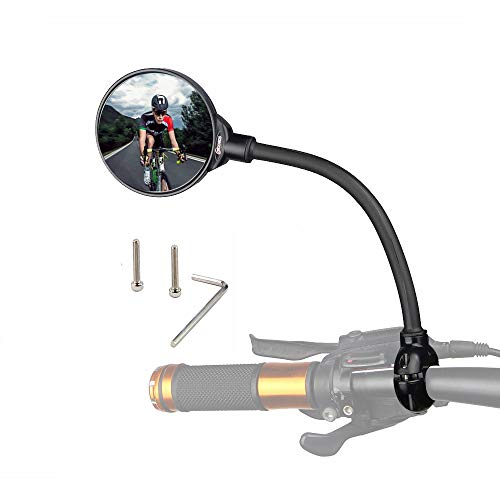 Bike Mirror Rotatable And Adjustable Wide Angle Rear View Shockproof Convex Mirror Universal For Bike Bicycle