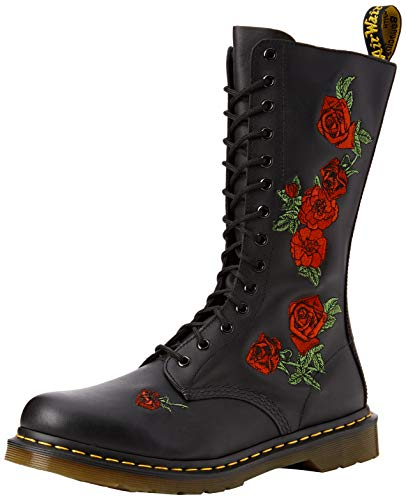 Dr. Martens womens 1914 Vonda Combat Boot, Black Softy T, 7 US