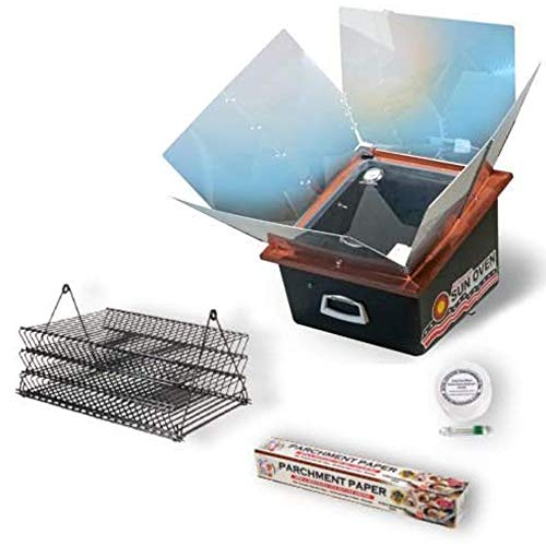 Sun Oven Solar Energy All American Sun Oven with Dehydrating Accessory Pack with Baking Rack Set, Spill-proof levelator, and Pasteurizing Indicator