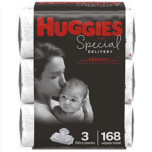 HUGGIES Special Delivery Hypoallergenic Baby Wipes, unscented, 168 Count
