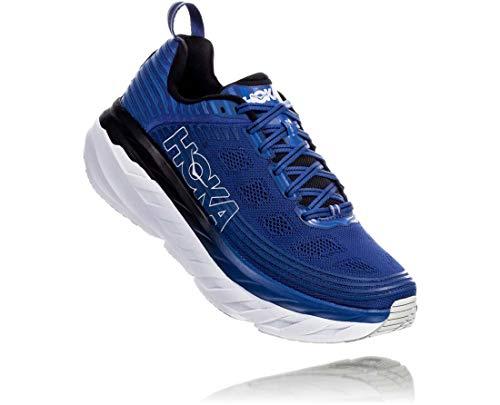 HOKA ONE ONE Mens Bondi 6 Galaxy Blue/Anthracite Running Shoe - 8.5