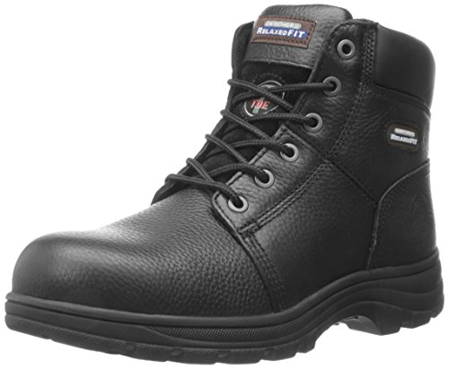 Skechers for Work Men's Workshire Relaxed Fit Work Steel Toe Boot,Black,9.5 M US