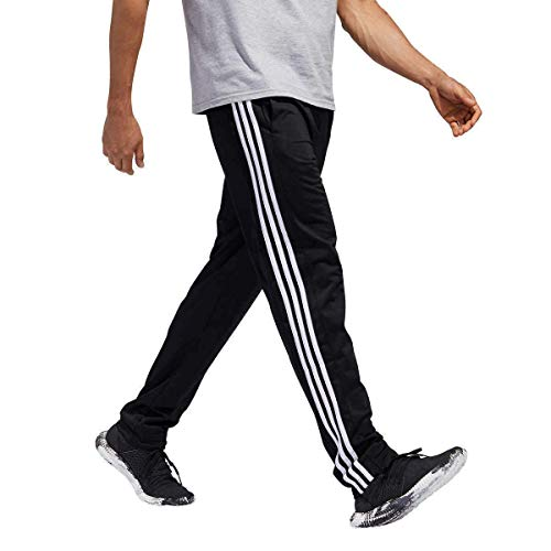 adidas Men Essential Track Pants Black Size M, L, XL (Black/White, Medium)