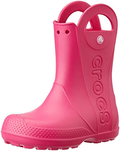 Crocs Kids' Handle It Rain Boots, Easy On for Toddlers, Boys, Girls, Lightweight and Waterproof, Candy Pink, 12 M US Little Kids