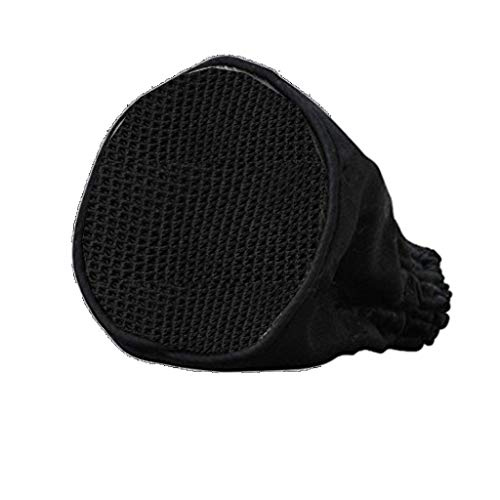 Hairdressing Foldable Canvas Black Universal Hair Dryer Sock Diffuser Travel Wind Blower Attachment Cover