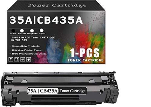 1-Pack35A | CB435A Black TonerCartridgeCompatibleforHP35A | CB435A InkCartridgeReplacement for HP Laserjet P1002 P1003 P1004 P1005 P1006 P1007 P1008 P1009Printers.