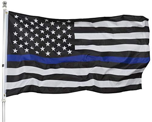Thin Blue Line American Flag - 3x5 Blue Stripe American Matter Police Flags - USA Honoring Law Enforcement Officers Banner Flags Outdoor Indoor