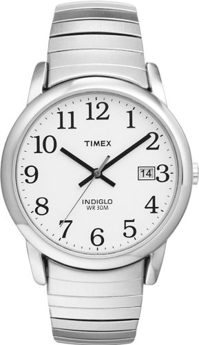 Timex 2H451 Men's Round Silver-Tone Easy Reader Dress Watch with Silver-Tone Stainless Steel Expansion Band - IN Attractive GIFT BOX