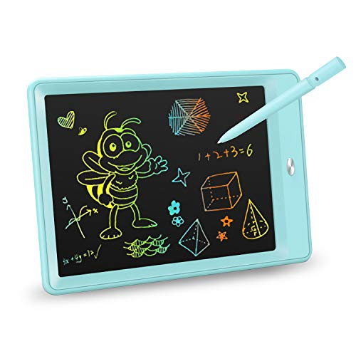 KOKODI LCD Writing Tablet, 10 Inch Colorful Toddler Doodle Board Drawing Tablet, Erasable Reusable Electronic Drawing Pads, Educational and Learning Toy for 3-6 Years Old Boy and Girls