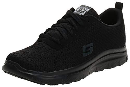 Skechers mens Flex Advantage Sr - Bendon Work Shoe, Black Mesh/Water/Stain Repellent Treatment, 10.5 Wide US