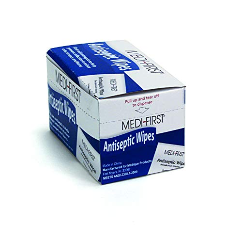 Medique Medi-First Antiseptic Wipes, Benzalkonium Chloride Cleansing Towelettes, 20 Pack - 21471