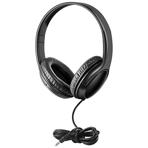 School Testing Durable Headphone Bulk 10 Packs Wholesale Stereo Headsets for Classroom Students Library Computer Lab (No mic)
