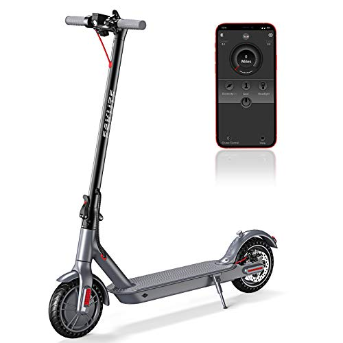 ESKUTE APP Electric Scooter,Up to 18.6 Miles & 15MPH,8.5' Solid Tires,350W Motor Long-Range Battery,Electric Scooter for Adults Teens,Foldable & Portable Commuting Scooter with Double Braking System
