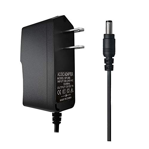 12V 1A Power Adapter AC 100-240V to DC 12V 1000mA Power Supply Adapter 12V 12W Adapter DC Connector Jack 5.5mmx2.1mm for LED Strip Lights,Audio/Video, Wireless Router