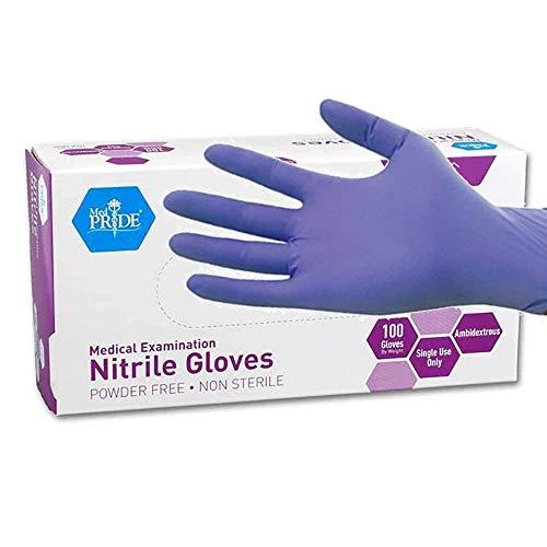 MedPride Powder-Free Nitrile Exam Gloves, Large, Box/100