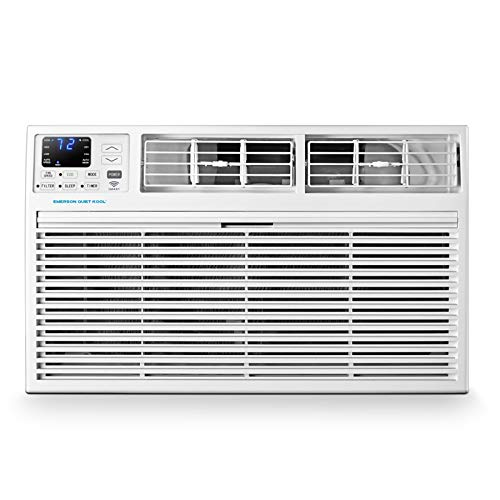 Emerson Quiet Kool EATC10RSE1T 10,000 BTU 115V Smart Through-The-Wall Air Conditioner with Remote, Wi-Fi, and Voice Control, 10000, White