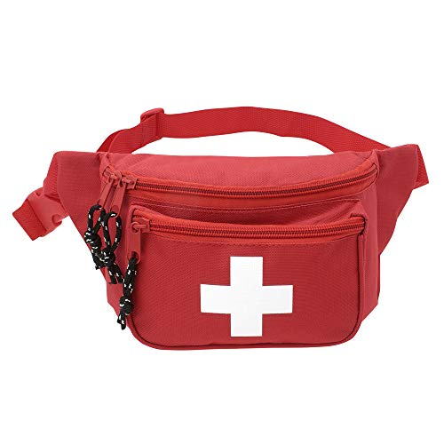 AsaTechmed First Aid Waist Pack - Baywatch Lifeguard Fanny Pack - Compact for Emergency at Home, Car, Outdoors, Hiking, Playground, Pool, Camping, Workplace