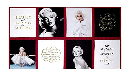 Robert Kaufman Kaufman Marilyn Monroe Digital Print Block 23.5' Panel, Lipstick