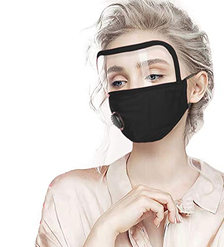 Men & Women Unisex Dust-proof Reusable and Breathable Full Face Protection Masks with Filter Outdoor Cotton Protection Face Shield.