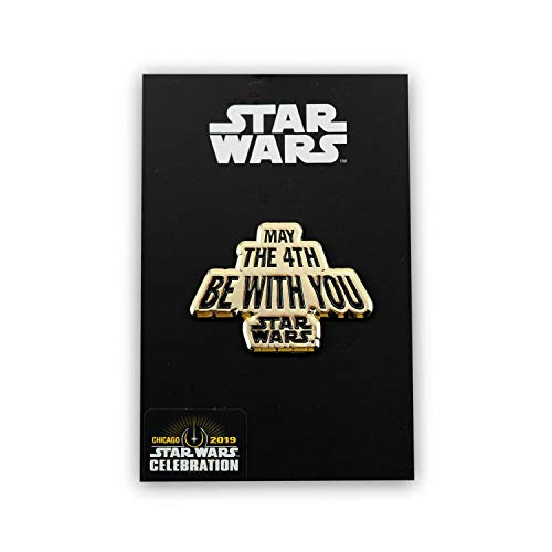 Star Wars May The Fourth Be with You Pin Gold Edition | Enamel Star Wars Collector Pin | Fun May 4th Star Wars Accessory