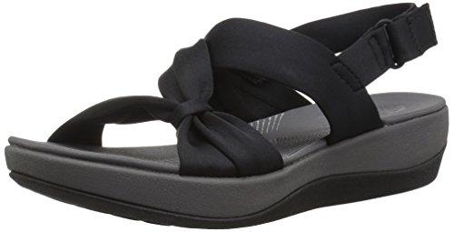 Clarks Women's Arla Primrose Sandal, Black Fabric, 9.5 M US