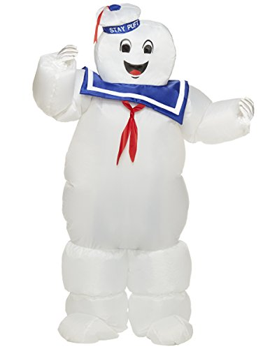 Spirit Halloween Kids Stay Puft Ghostbusters Inflatable Costume | Officially Licensed