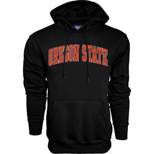 Blue84 NCAA Oregon State Beavers Mens Arching Team Color Hoodie, Oregon State Beavers Black, Large