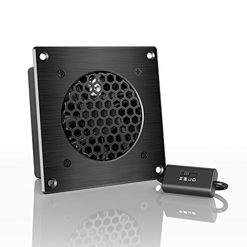 AC Infinity AIRPLATE S1, Quiet Cooling Fan System 4' with Speed Control, for Home Theater AV Cabinets