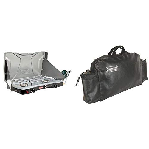 Coleman Triton Series InstaStart 2-Burner Stove and Coleman Small Stove Carry Case Bundle