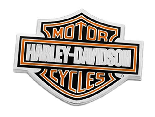 Harley-Davidson 1.75 in. Bar & Shield Logo Pin, Shiny Nickel Finish 8008888