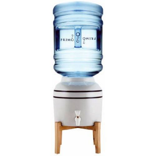 Primo - Easy Top Loading Ceramic Countertop Water Dispenser - for 3 or 5 Gallon Jugs - Instant Fresh Water