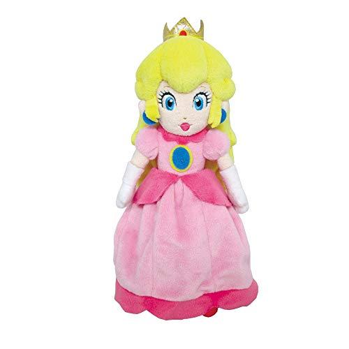 Little Buddy Super Mario All Star Collection 1418 Peach Stuffed Plush, 10',Multicolor