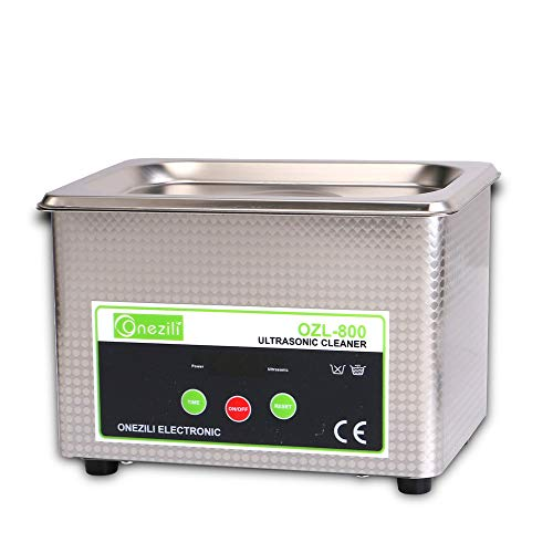 ONEZILI Ultrasonic Jewelry Cleaner, Professional Jewelry Cleaner Machine with 18 Digital Timer for Cleaning Denture, Eyeglasses, Rings, Necklaces, Lenses, Watches, Gun Parts, Circuit Board, etc