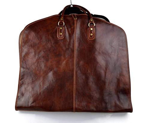 Leather garment bag travel garment bag carry-on garment bag with handles suit garment bag carrying garment bag hanging garment bag brown