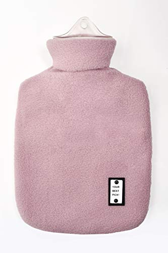 L&L Hot Water Bottle Classic Rubber 1 Liter Hot Water Bag with Fleece Cover(Purple)