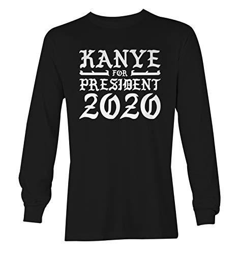 Tcombo Kanye for President 2020 - Election Pablo Unisex Long Sleeve Shirt (Black, Small)