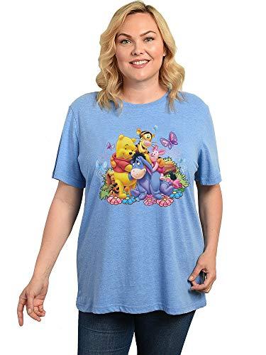 Disney Womens Winnie The Pooh Plus Size T-Shirt Eeyore Piglet Tigger (3X, Blue)