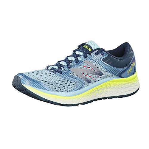 New Balance Women's Fresh Foam 1080 V7 Running Shoe, Ozone Blue Glow/Lime Glow, 5 B US