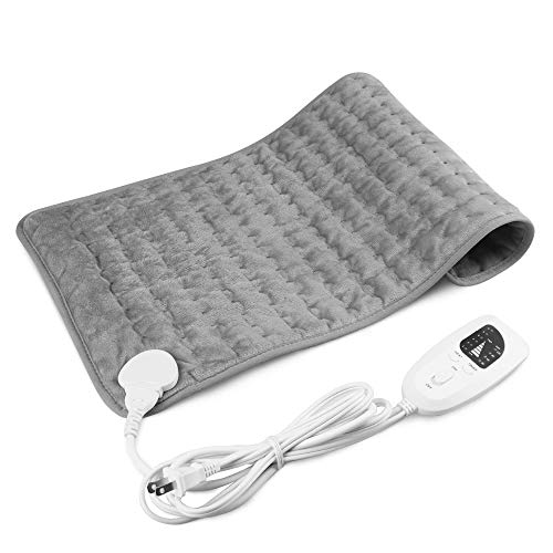 Heating Pad,Electric Heating Pad 12'x24',Machine Washable Large Heating Pads for Back Pain Heat Pad Moist Heating Pad with Timer,6 Temperature Settings Heated Pad for Neck,Shoulder,Elbow