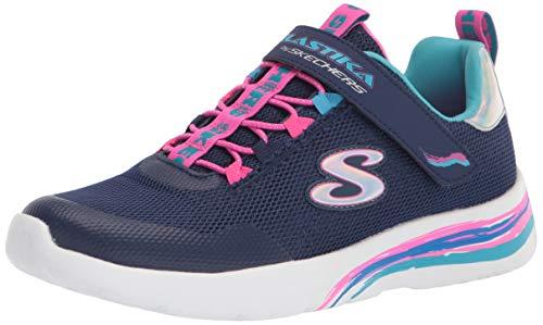 Skechers girls Skechers Sport, Skechers Light Weight, Skechers Sneaker, Navy/Multi, 10.5 Little Kid US