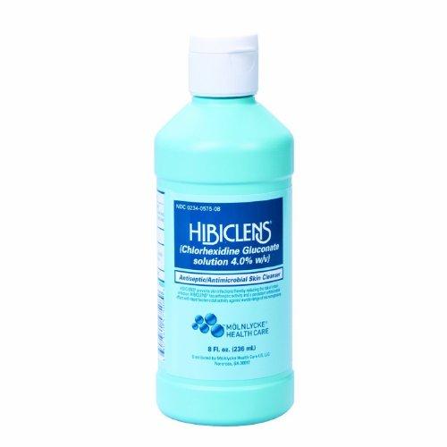 Hibiclens Antiseptic Antimicrobial Skin Cleanser 8 Fl oz. 236ml - Qty 2 Bottles