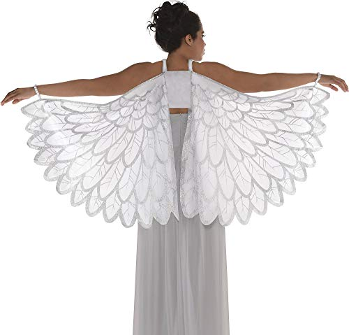 AMSCAN Snow Fantasy Angel Wings Halloween Costume Accessories for Adults, One Size
