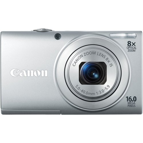 Canon PowerShot A4000IS 16.0 MP Digital Camera with 8x Optical Image Stabilized Zoom 28mm Wide-Angle Lens with 720p HD Video Recording and 3.0-Inch LCD (Silver)