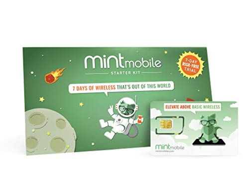 Mint Mobile Starter Kit | Verify Compatibility with Our Talk, Text & Data Plans (3-in-1 GSM SIM Card)