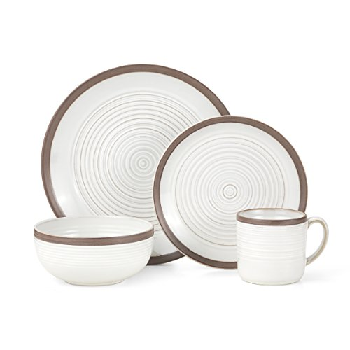Pfaltzgraff Carmen Brown 16-Piece Stoneware Dinnerware Set, Service for 4 -