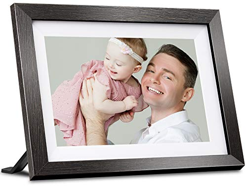 BIHIWOIA Digital Picture Frame WiFi 10.1 Inch Digital Photo Frame with IPS Touch Screen HD Display, 16GB Storage, Auto-Rotate, Share Photos & Videos via Frameo App (Black)